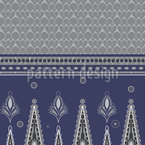 Saree In Winter Seamless Vector Pattern Design