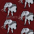 Elefanten Schönheit Nahtloses Vektormuster