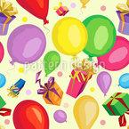 Geschenke und Ballons Nahtloses Vektormuster