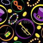 Masks And Hats Seamless Vector Pattern Design