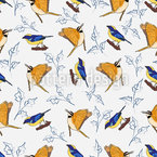 Cool Winter Birds Design Pattern