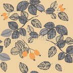 Autumn leaves and rosehips Vector Ornament