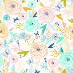 Papillons Et Roses Motif Vectoriel Sans Couture