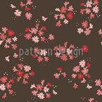 Bett Der Kleinen Blumen Nahtloses Vektormuster