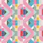 Immitation Of Geometric Embroidery Pattern Design