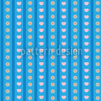 Flowers And Love Seamless Pattern