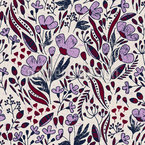 Vintage Dancing Flowers Design Pattern