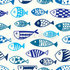 Line fish Vector Pattern
