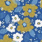 Rasterized flowers Pattern Design