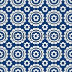 Symmetrische Blüten Nahtloses Muster