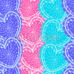 Hearts Over Hearts Over Hearts Seamless Vector Pattern