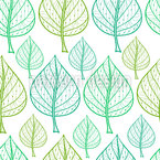 Rows Of Leaves Vector Pattern