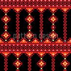 Folclore tradicional romeno Design de padrão vetorial sem costura