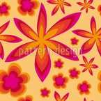 Hippie Stars Vector Pattern