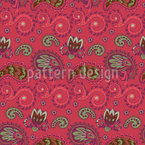 Curlicue and Paisley Seamless Vector Pattern Design