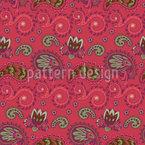 Curlicue e Paisley Design de padrão vetorial sem costura
