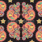 Étoiles et Paisley Motif Vectoriel Sans Couture
