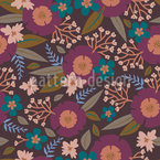 Romantic Garden In Autumn  Pattern Design