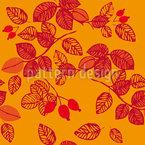 Rosehips in autumn Design Pattern
