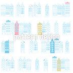 アムステルダムカナルハウス シームレスなベクトルパターン設計