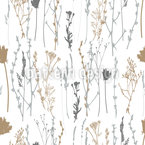 Wild Plants And Herbs Repeat Pattern