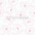 Poppies And Dots Pattern Design
