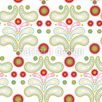 Paisley forest Seamless Vector Pattern Design