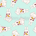 Bunnies And Birds Pattern Design