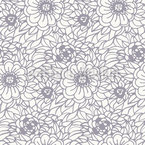 Fresh flower zentangle Repeat Pattern