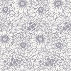 Frisches Blumenzentangle Nahtloses Vektormuster