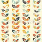 Retro Blumen Muster Design