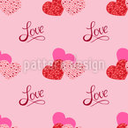The shape of love Vector Pattern