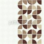 Retropolis Braun Nahtloses Vektor Muster