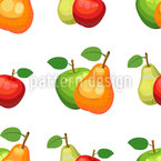 Frische Äpfel und Birnen Musterdesign