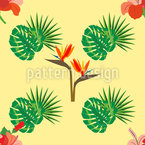 Parrot flower Vector Ornament