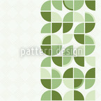 Retropolis Green Seamless Vector Pattern Design