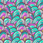 Overlapping Clams Pattern Design