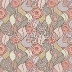 波状の髪 シームレスなベクトルパターン設計