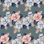Arrangement Of Roses Seamless Vector Pattern