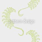 Dolce Farniente Branco Design de padrão vetorial sem costura