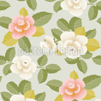 Lovely Stylized Roses Repeat
