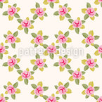 Grid of Roses Repeating Pattern