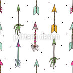 Lovely Cupids Arrows Seamless Vector Pattern Design