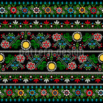 Hungarian embroidery Pattern Design