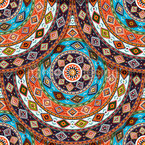 Indianisches Sommerrad Nahtloses Vektor Muster