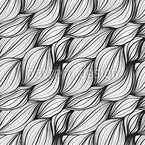 Braided Hair Waves Seamless Vector Pattern Design