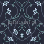 Gothic Flower Fantasy Seamless Vector Pattern Design