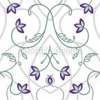 Blumen Am Gotischen Tor Nahtloses Vektormuster
