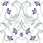 Flowers On The Gothic Gate Seamless Vector Pattern Design
