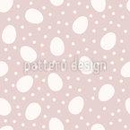 Eier und Punkte Nahtloses Vektormuster